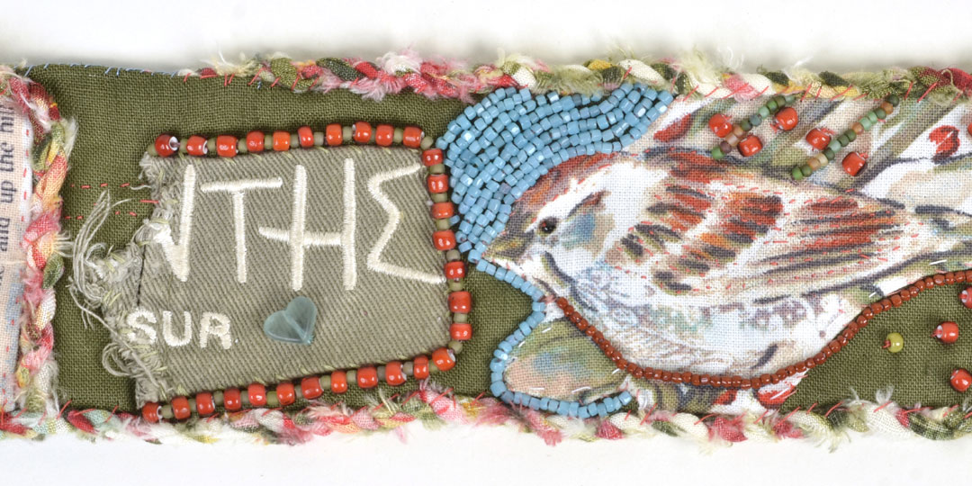 Talisman for Sparrows, Kathleen O'Brien, beaded cuff