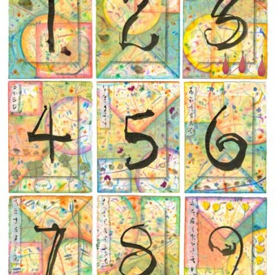"Kathleen O'Brien, ""Numbers 1-9, multiple of Mixed Media Collages"