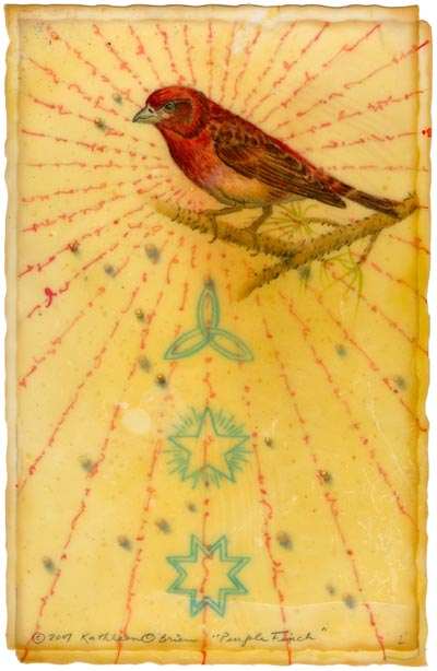"Kathleen O'Brien, ""Purple Finch"", Giclee print"