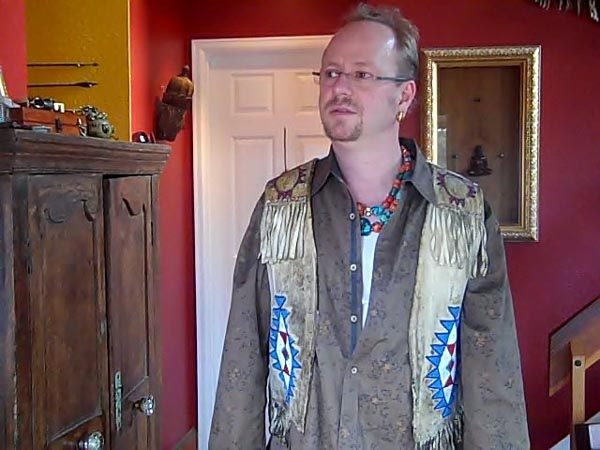 Jacob March in his Arapaho Vest