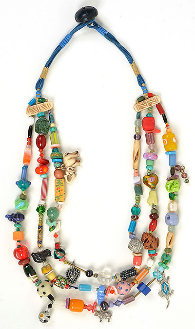 """Talisman for Happiness"" necklace by Kathleen O'Brien"