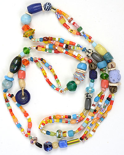 """Talisman for Joy 1"" bead necklace Kathleen O'Brien"