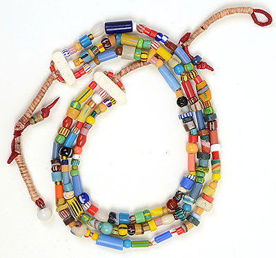 """Talisman for Joy 2"" bead necklace Kathleen O'Brien"
