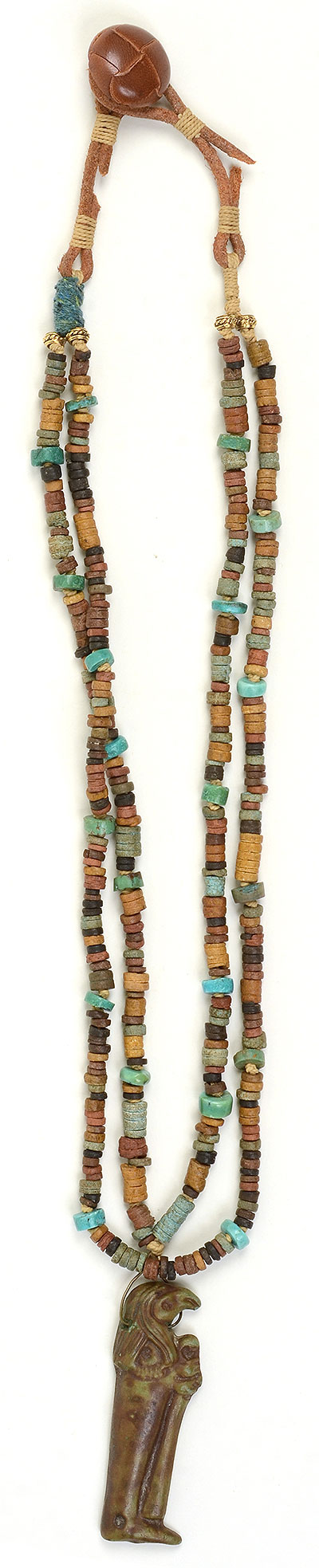 """Talisman for Longevity"" bead necklace by Kathleen O'Brien"