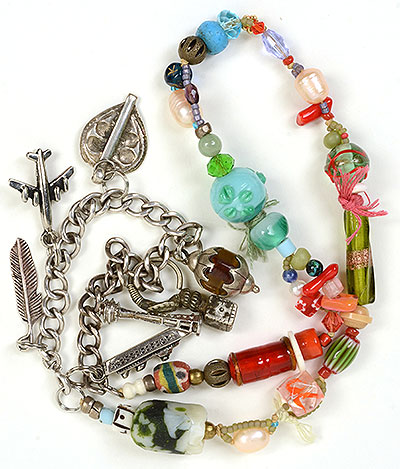 """Talisman for Safe Journey"" necklace by Kathleen O'Brien"