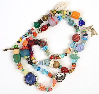 """Talisman for Sea Creatures"" bead necklace by Kathleen O'Brien"
