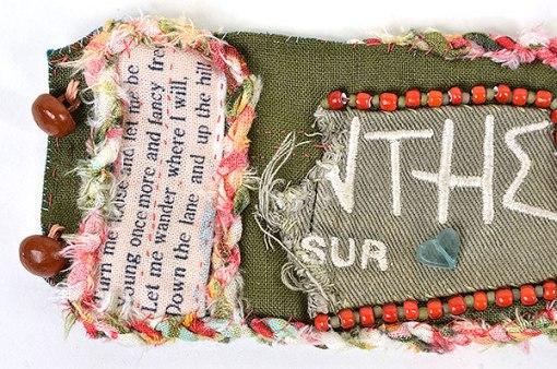 """Talisman for Sparrows"" bead bracelet cuff detail Kathleen O'Brien"