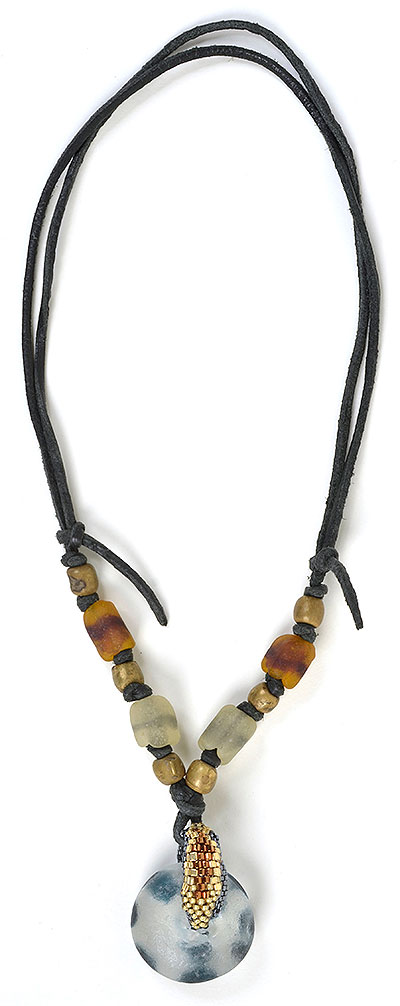 """""""Talisman for Wild Animals"""" bead necklace by Kathleen O'Brien"""