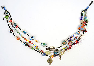 """Talisman for the Heart"" bead necklace Kathleen O'Brien"