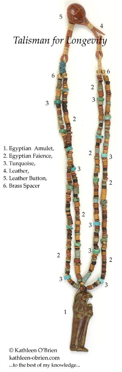 """Talisman for Longevity"" necklace bead ID by Kathleen O'Brien"