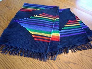 Fox Hutt's Rainbow - Chakra table rugs