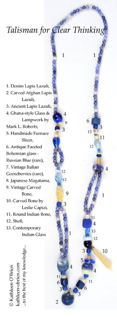 """""""Talisman for ClearThinking"""", necklace bead ID by Kathleen O'Brien"""