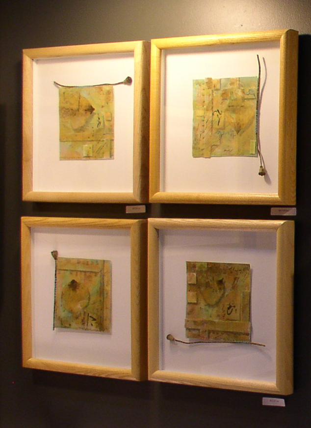 """Poppy Poems 4-7"" by Kathleen O'Brien on display."