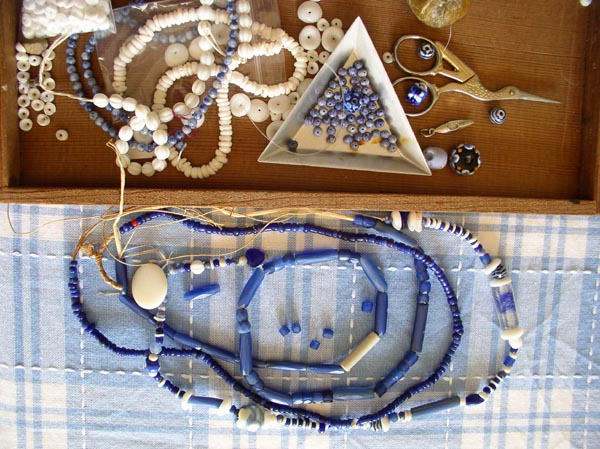 Russian Blues &Old Blue Glass Beads & T4 Deep Blue Sea