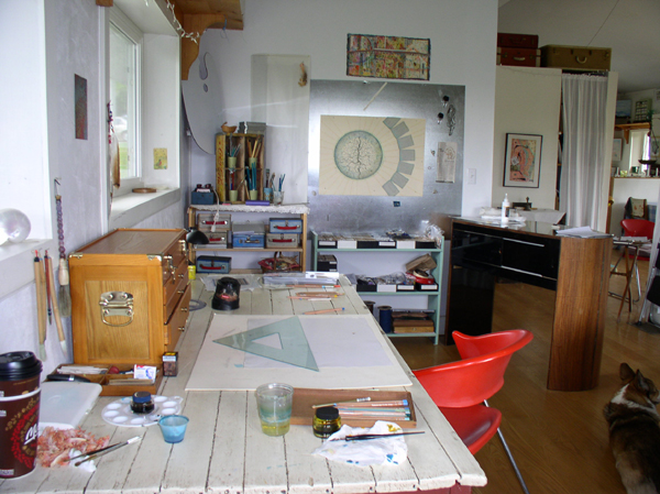 """""""Rivers and Roots"""" in studio setting, Kathleen O'Brien"""