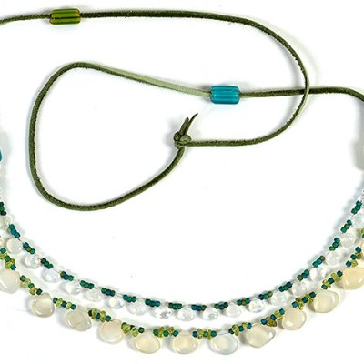 """""""Talisman for Peace of Mind"""" necklace by Kathleen O'Brien"""
