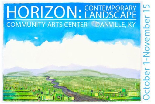 Horizon: Contemporary Landscape Postcard from CAC with O'Brien Image