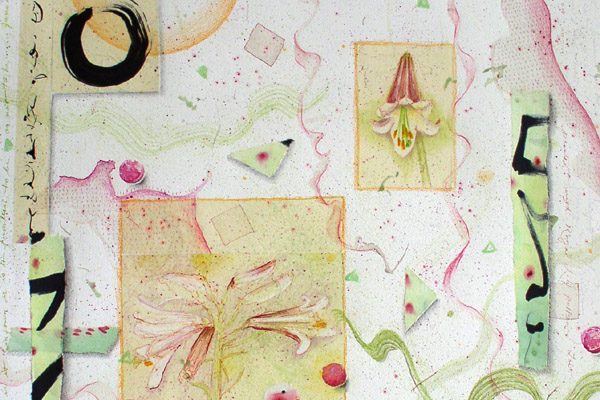 """Royal Lily Flower Essence drawing for """"9 White Flowers"""" by Kathleen O'Brien"""