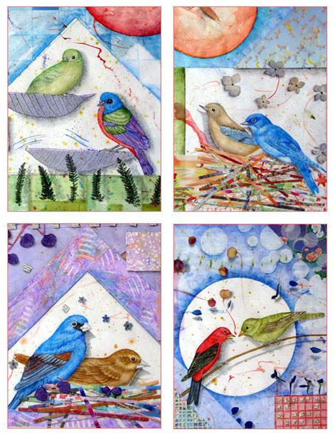 Bird Couples Card Set Kathleen O'Brien