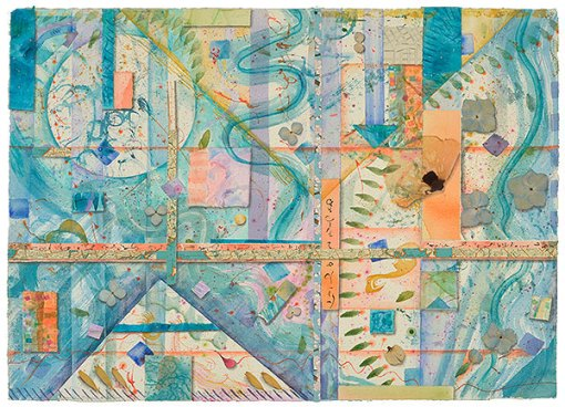 Crossroads and Quadrants, watercolor, drawing, Kathleen O'Brien