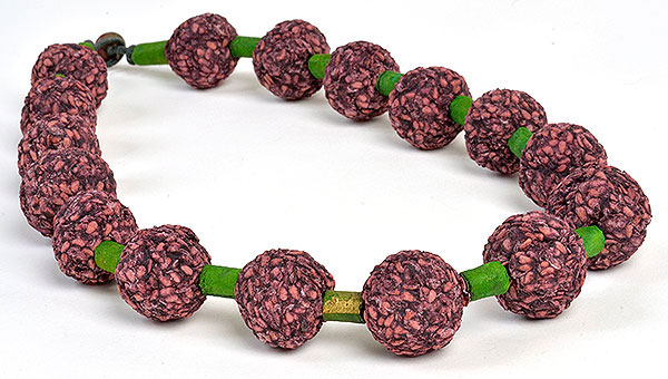 Elderberry & paper bead necklace, Kathleen O'Brien