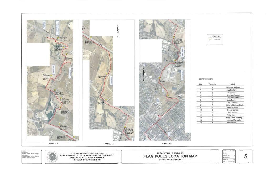 Map for Blazes on the Legacy Trail, Lexington, KY,