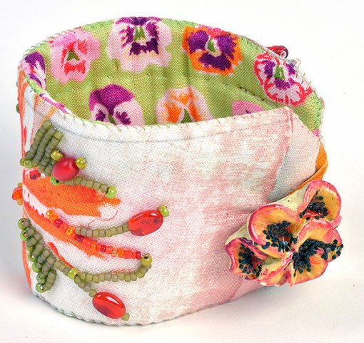 Talisman for Spring Flowers, cuff by Kathleen O'Brien