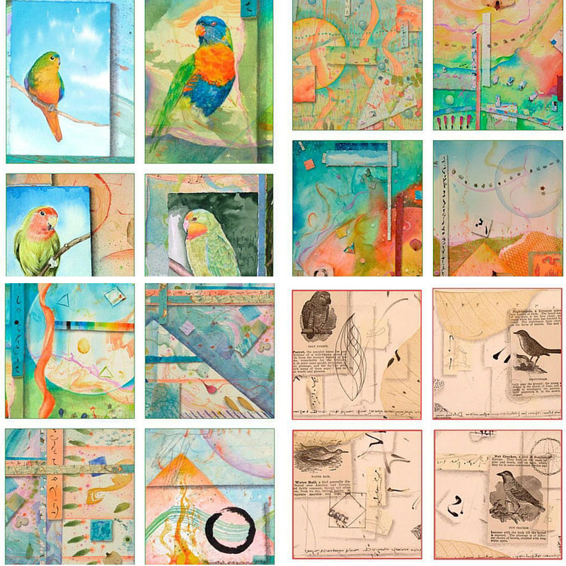 Samples of new greeting card sets by Kathleen O'Brien. In addition to holiday and favorite card sets, there are 12 new ones - that makes 48 new cards.