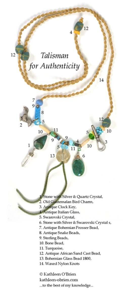Talisman for Authenticity, necklace by Kathleen O'Brien, bead ID