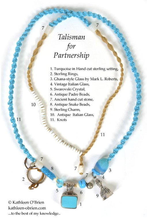Talisman for Partnership, necklace by Kathleen O'Brien, bead ID