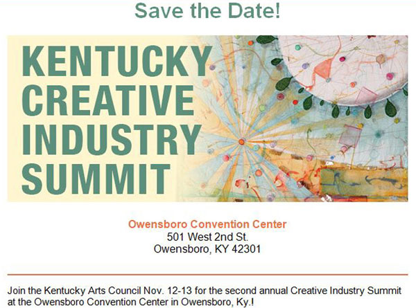 Creative Industry Summit, use of Connections collage