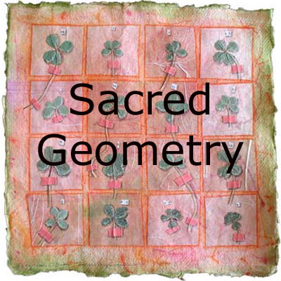 Sacred Geometry, mixed media collages by Kathleen O'Brien