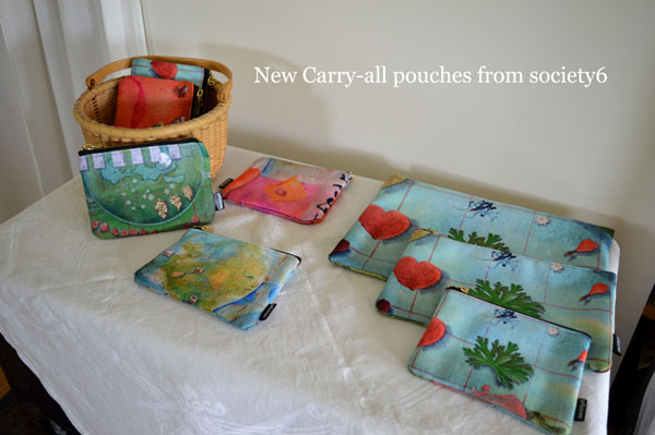 New Carry All Pouches by Kathleen O'Brien