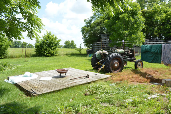 Moving the deck at Sunwise Farm and Sanctuary