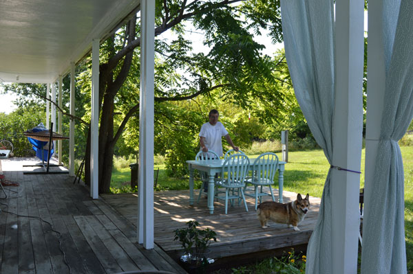 North Deck at Sunwise Farm and Sanctuary