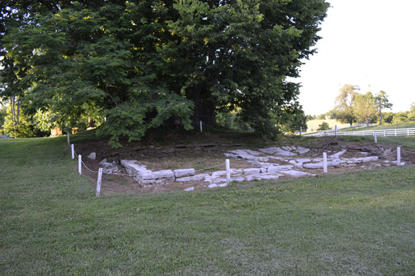 Ice House excavation at Shaker Village of Pleasant Hill