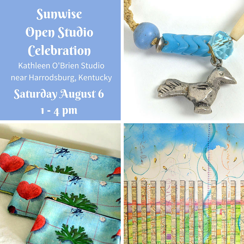 See art, jewelry and products by Kathleen O'Brien at Sunwise Open Studio Celebration