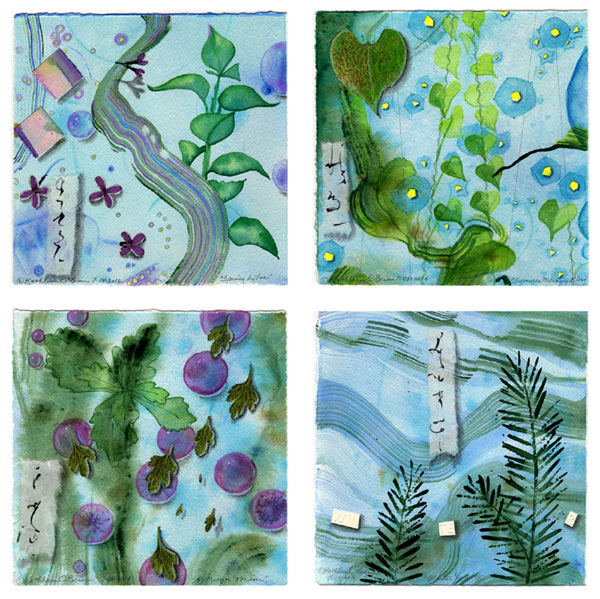 Fifth version of 4 Seasons card set, Leaves by Kathleen O'Brien