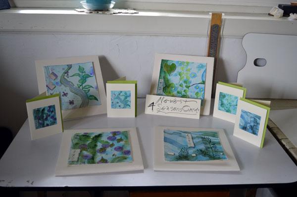 new 4 seasons leaves cards, Kathleen O'Brien Studio