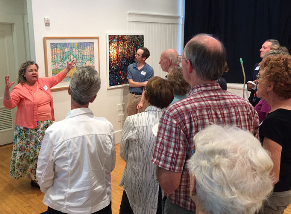 Kathleen O'Brien, Brandon Long and invited guests at Community Arts Center, Horizon: Contemporary Landscape exhibit