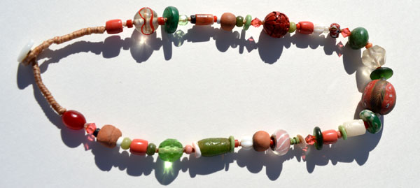 """Talisman for Transitions"", ancient, antique, vintage, handmade bead necklace by Kathleen O'Brien"