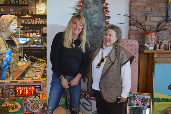 Nancy Anderson and myself at her Sweet Bird Shop