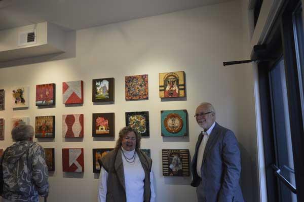 KO'B with Ray Papka and his encausticks photo: Greg Orth