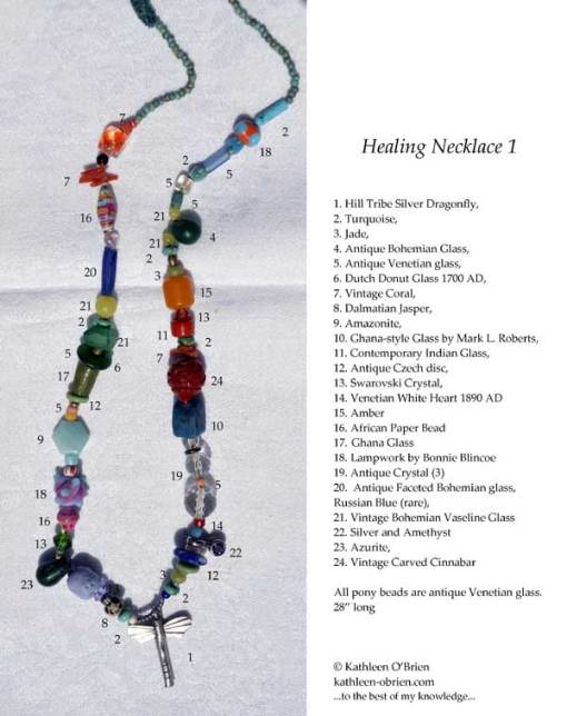 ID tag for Healing Necklace 1 by Kathleen O'Brien