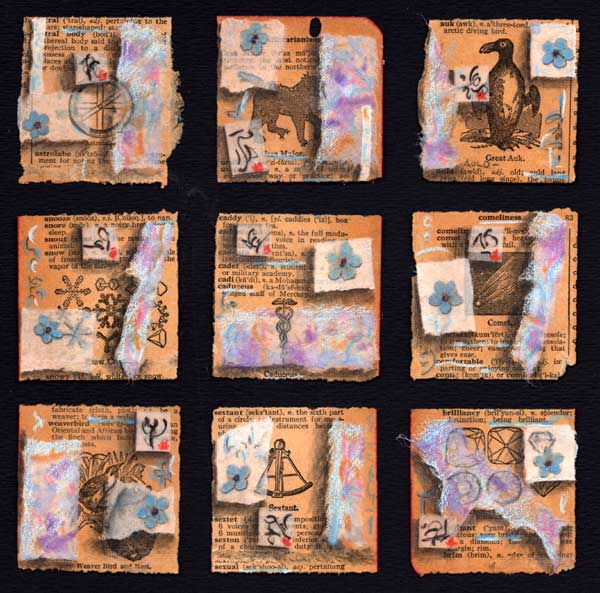 """""""Choice of Words"""", 10 x10"""", collage by Kathleen O'Brien"""