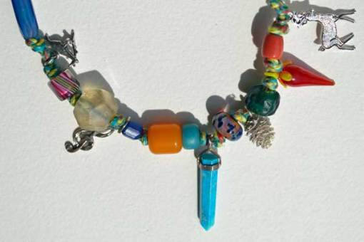 Healing Necklace 4 detail 1 by Kathleen O'Brien