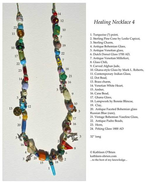 Healing Necklace 4 ID tag by Kathleen O'Brien