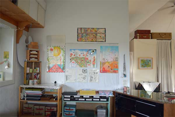 """4, 5,and 6 , Summer/South Atlas of the Year"", 22x15"", and drawings at ARTTOUR display by Kathleen O'Brien"