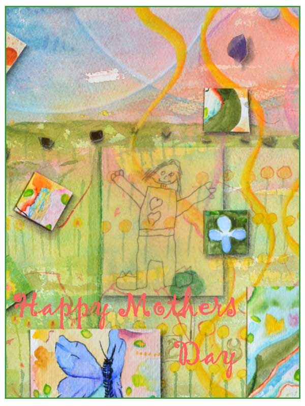 Happy Mothers Day card #326 by ©Kathleen O'Brien