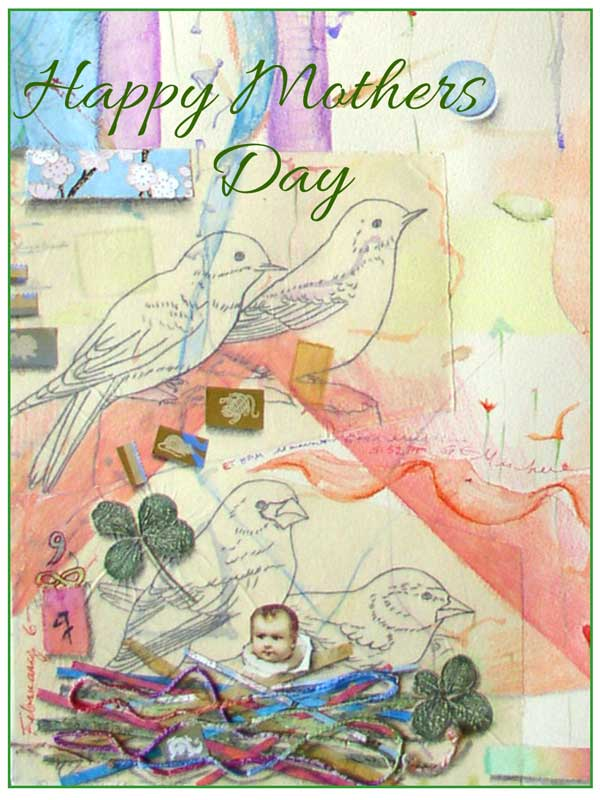 Happy Mothers Day card #330 by ©Kathleen O'Brien